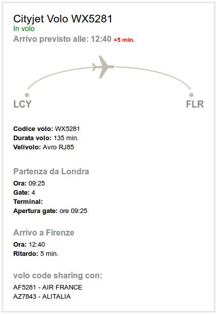 istella dettaglio volo