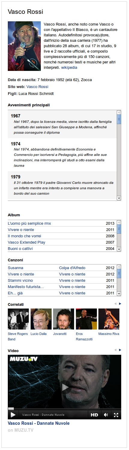 infobox istella vasco rossi